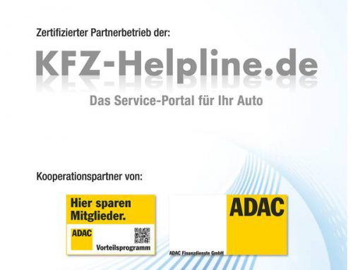 Zertifizierter Werkstattpartner des Serviceportals  Kfz-Helpline.de